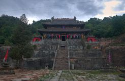 Old taoist kungfu tmple on the montain stock photos