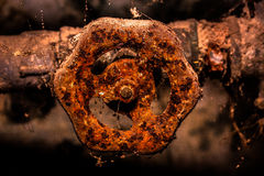 Old tap. Beautiful old rusty water tap Stock Image
