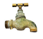 Old tap on a white background Royalty Free Stock Photography