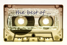 Old tape cassettes. Old and vintage tape cassettes Royalty Free Stock Photography