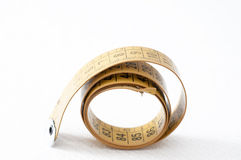 Old tape measure tailoring Stock Photo
