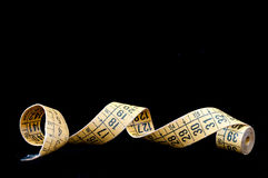 Old tape measure tailoring Royalty Free Stock Images