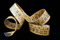 Old tape measure tailoring Royalty Free Stock Photo