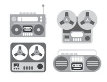 Old Tape Players Royalty Free Stock Images
