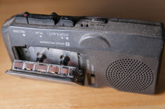 Old tape recorder indoor close-up Stock Photo