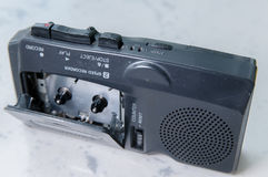 Old tape recorder indoor close-up Royalty Free Stock Photography