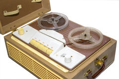 Old tape recorder. Royalty Free Stock Photography