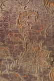 Old tapestry. Of dark color with floral ornament Royalty Free Stock Photos
