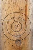 Old target. On the board royalty free stock photos