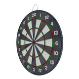 Old Target Dartboard Isolate On White. Royalty Free Stock Image