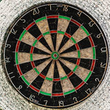 Old target dartboard. With no hits Royalty Free Stock Photo