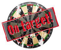 Old target with scratches Royalty Free Stock Image