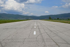 Old tarmac runway Royalty Free Stock Photos