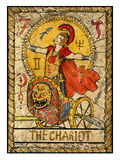 Old tarot cards. Full deck. The Chariot Royalty Free Stock Photos