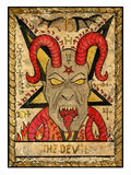 Old tarot cards. Full deck. The Devil Royalty Free Stock Photography