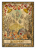 Old tarot cards. Full deck. Judgement Royalty Free Stock Images
