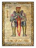 Old tarot cards. Full deck. King of Swords Stock Photos