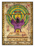 Old tarot cards. Full deck. The Magician royalty free illustration