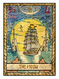 Old tarot cards. Full deck. The Moon Royalty Free Stock Image