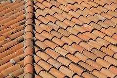 Old Tarracotta Roof Stock Photos