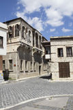 Old Tarsus Houses. And a junkman on the Street, Mersin,Turkey stock images