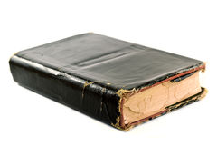 Old Tattered Black Book Royalty Free Stock Photography