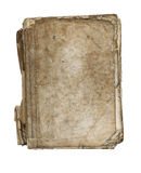 Old tattered book - paperback - on white background Stock Photo