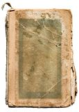 Old tattered book on white. Very old tattered book on white royalty free stock photos