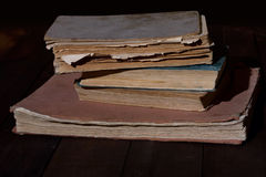 Old tattered books Stock Photo