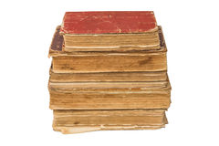 Old tattered books. Vintage torn books. Antiques isolated. Royalty Free Stock Photos