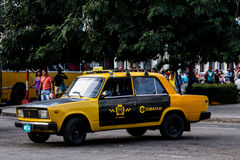 Old taxi car cuba Royalty Free Stock Photo