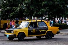 Old taxi car cuba Royalty Free Stock Photo