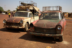 Old taxi in Mali Stock Image