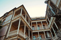 Old Tbilis houses Stock Photos