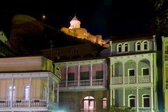 Old Tbilisi at night Royalty Free Stock Photos