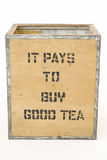 Old tea Chest on white Stock Photography