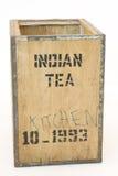 Old tea Chest on white Stock Photos