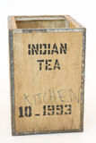 Old tea Chest on white Royalty Free Stock Photography