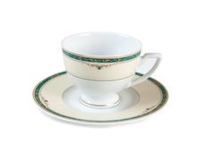 Old tea cup. And saucer on a white background Royalty Free Stock Photography