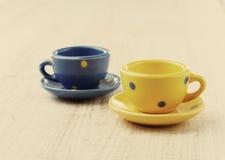 Old tea cups Stock Photos