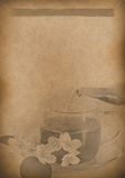 Old Tea Menu background Vintage paper for any design Royalty Free Stock Image
