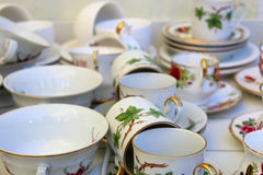 Old teacups Stock Photos