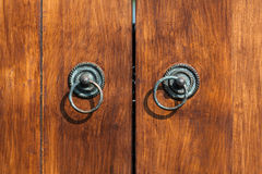 Old teak doors Stock Image