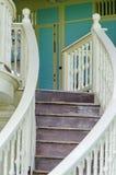 Old teak wood stairs Royalty Free Stock Photos