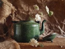 Old teapot - a picture. Royalty Free Stock Photos