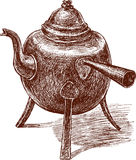 Old teapot Stock Photo