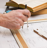 Old technical drawings Royalty Free Stock Image