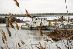 Old technical riverboats Royalty Free Stock Photography