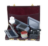 Old Technology in Briefcase Royalty Free Stock Image