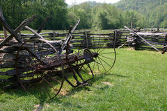 Old Technology - Great Smoky Mountains National Pa. What was once state-of-the-art technology.  Located at a restored farming community in the Oconalufte Visitor Stock Photography